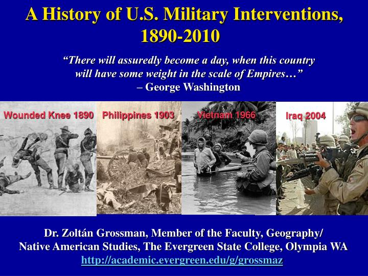 A History of U.S. Military Interventions,