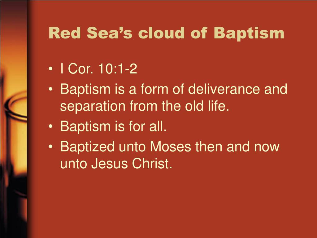 Red Sea's cloud of Baptism