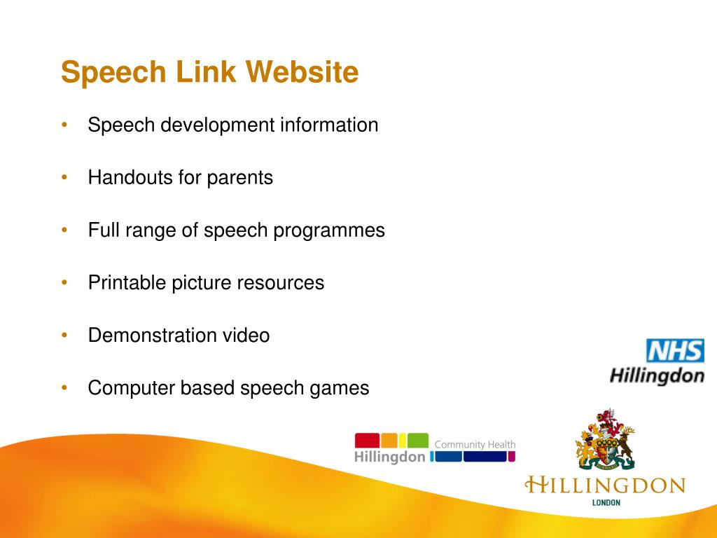 Speech Link Website
