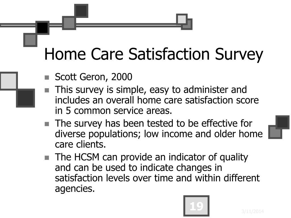 Home Care Satisfaction Survey