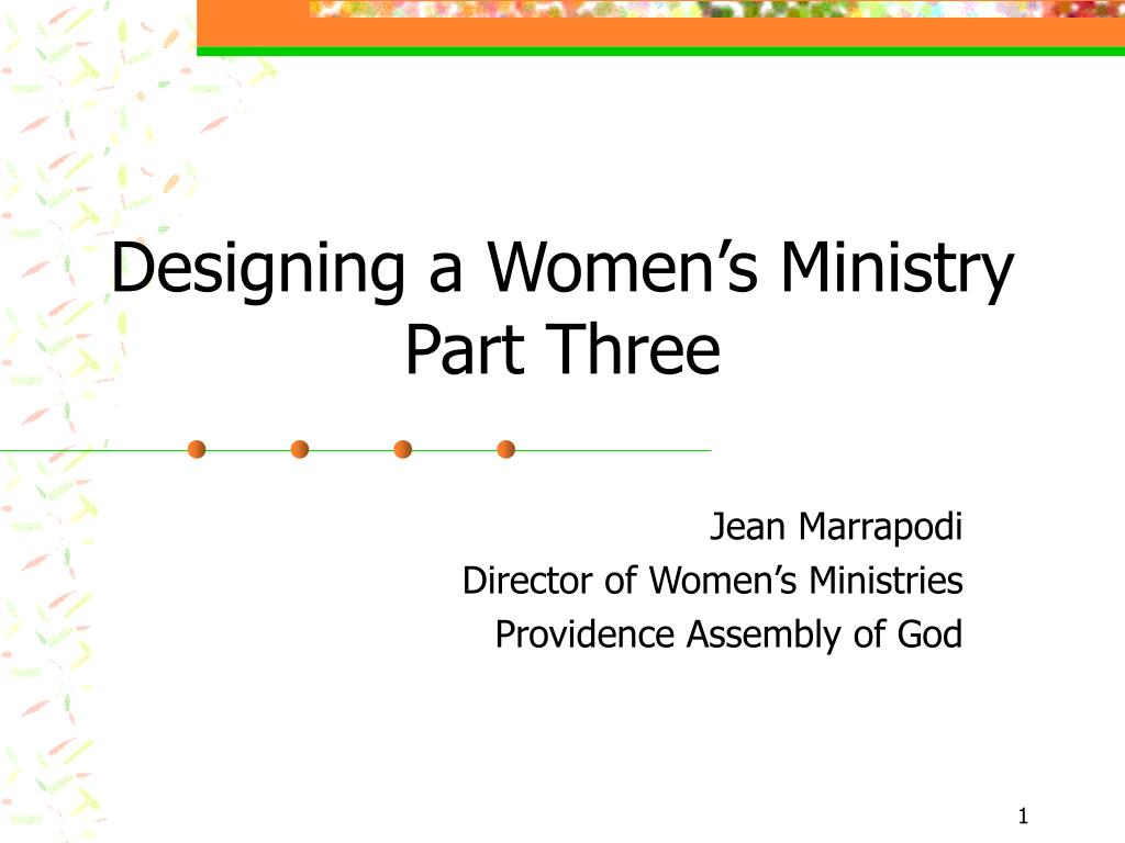 Designing a Women's Ministry
