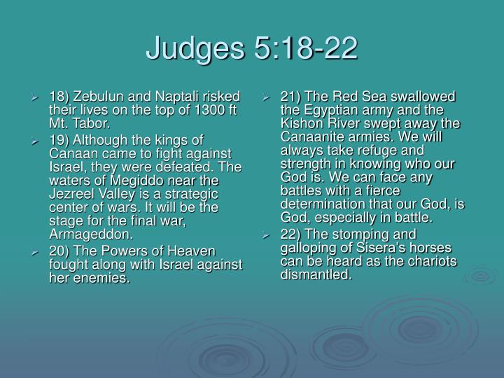 Judges 5 18 22