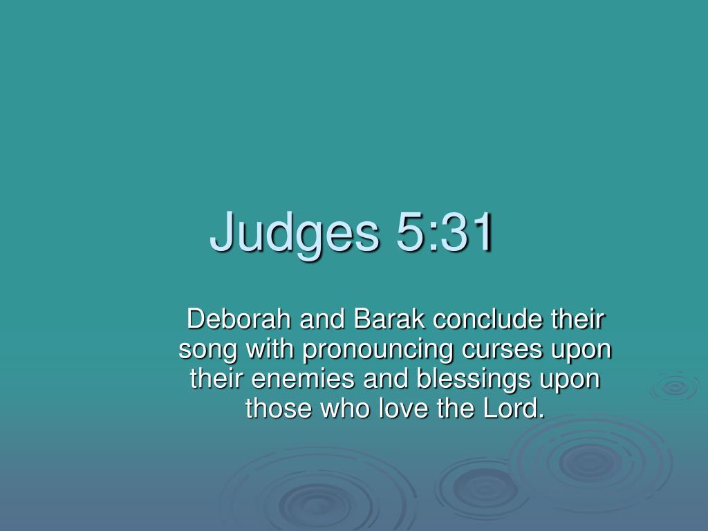 Judges 5:31