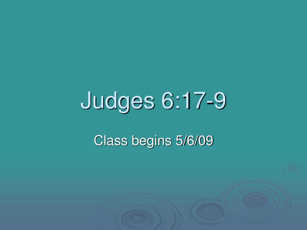 Judges 6:17-9
