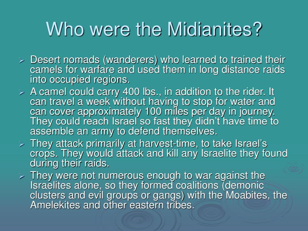 Who were the Midianites?