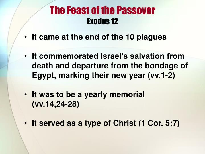 The feast of the passover exodus 12
