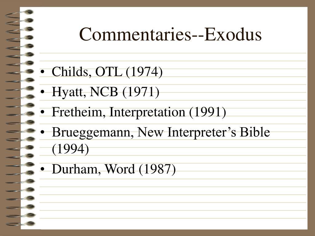 commentaries exodus