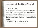 meaning of the name yahweh