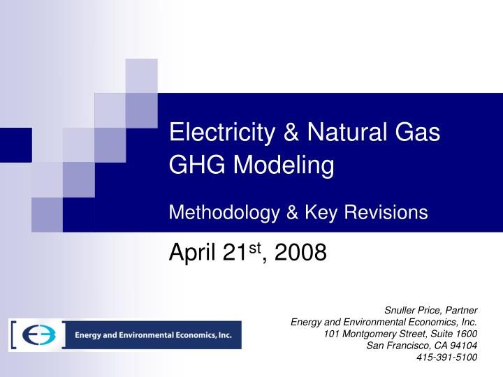 electricity natural gas ghg modeling methodology key revisions n.