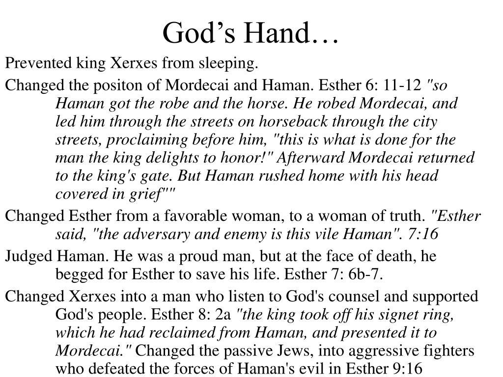 God's Hand…
