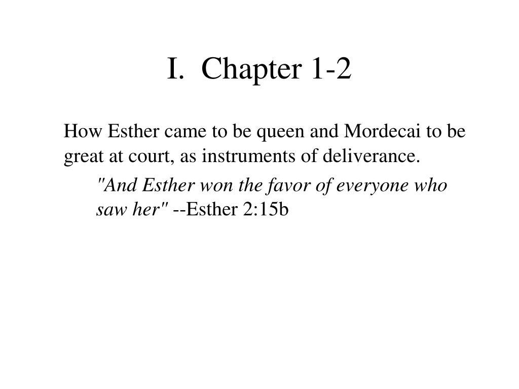 I.  Chapter 1-2