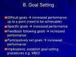 b goal setting