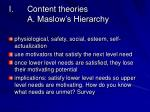 content theories a maslow s hierarchy