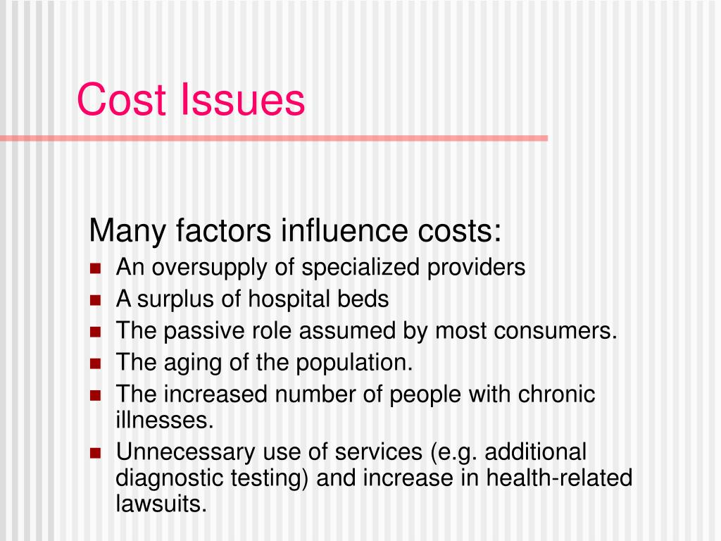Cost Issues