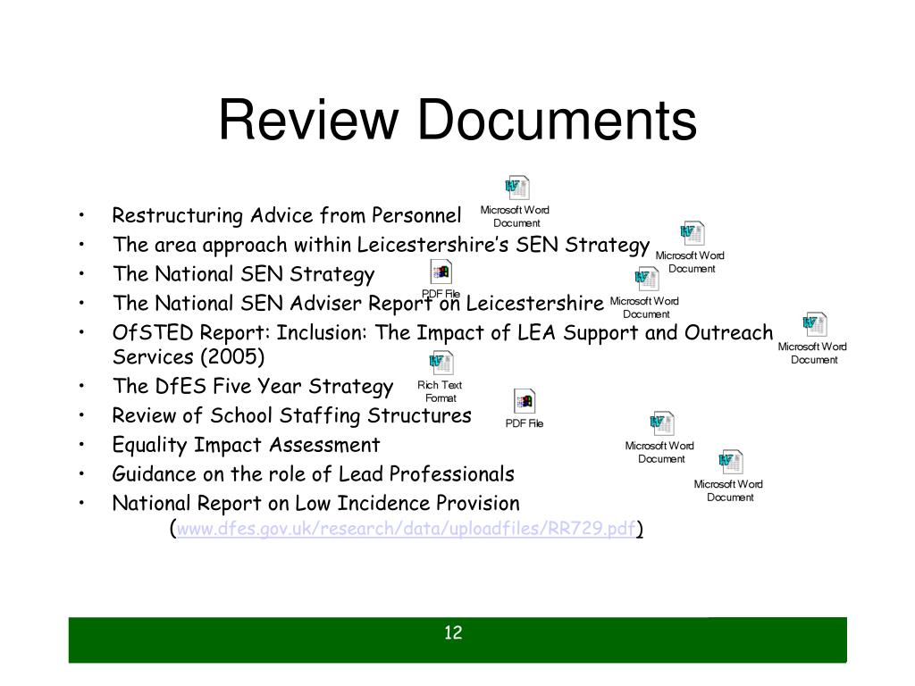 Review Documents