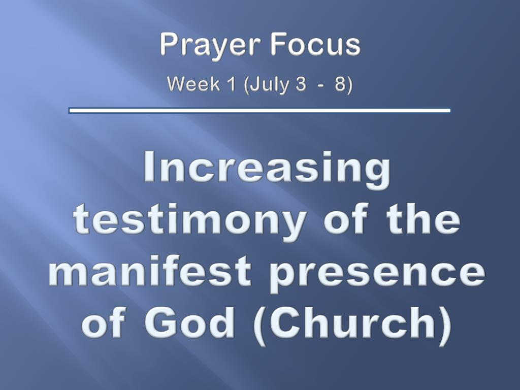 Prayer Focus