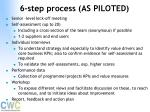 6 step process as piloted