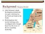 background kingdom divided