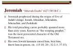 jeremiah jehovah exalts 627 585 b c
