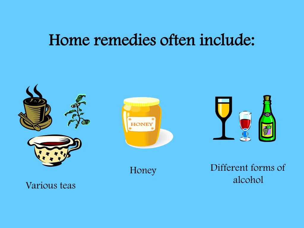 Home remedies often include: