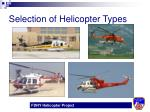 selection of helicopter types