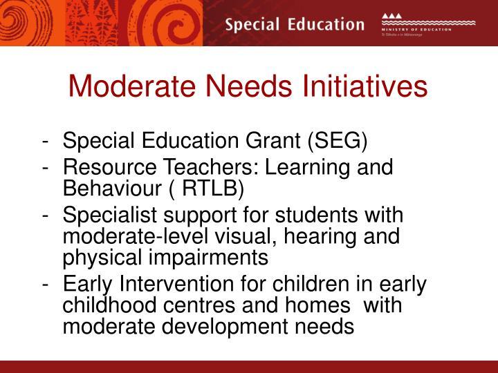 Moderate Needs Initiatives