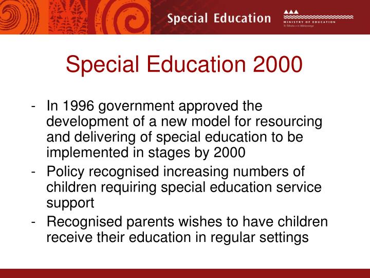 Special Education 2000