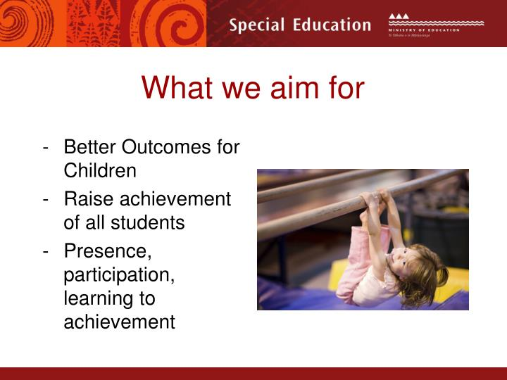 What we aim for
