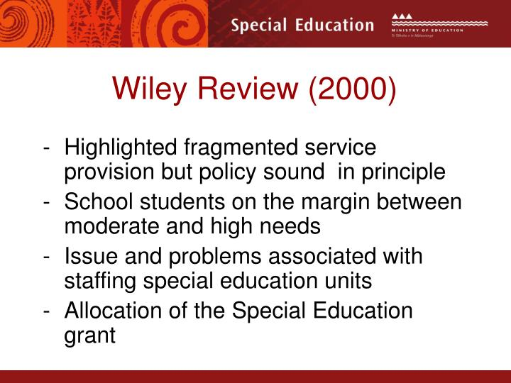 Wiley Review (2000)