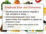 employee error and dishonesty