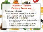 inventory theft by delivery personnel