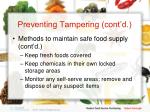 preventing tampering cont d20