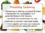 preventing tampering