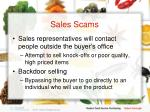 sales scams