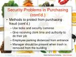 security problems in purchasing cont d11
