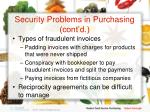 security problems in purchasing cont d12