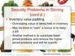 security problems in storing cont d16