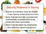 security problems in storing