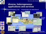 diverse heterogeneous applications and services