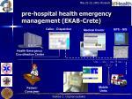 pre hospital health emergency management ekab crete