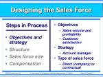 designing the sales force4