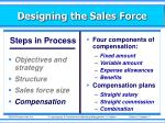 designing the sales force7