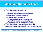 managing the sales force10