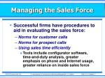 managing the sales force11