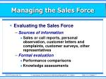managing the sales force13