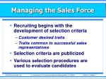 managing the sales force9