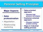personal selling principles