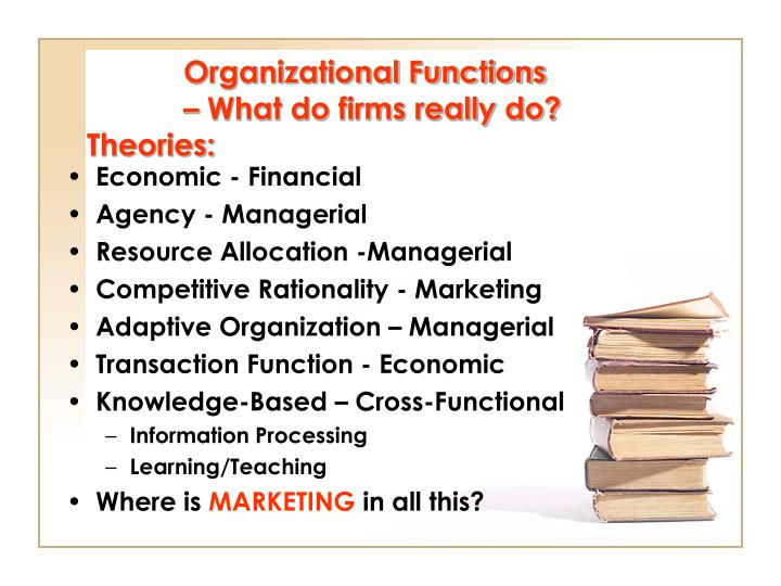 Organizational functions what do firms really do theories