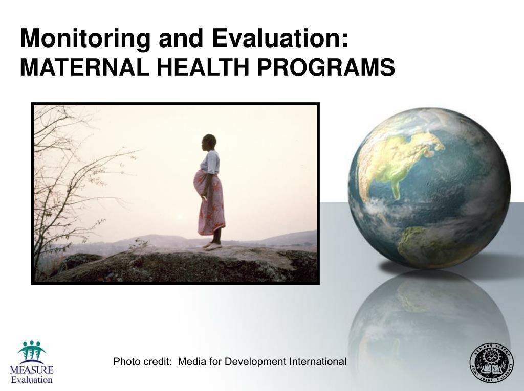monitoring and evaluation maternal health programs