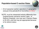 population based c section rates